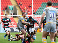 20th February 2021; Welford Road Stadium, Leicester, Midlands, England; Premiership Rugby, Leicester Tigers versus Wasps; Kini Murimurivalu of Leicester Tigers is tackled by Tom West of Wasps