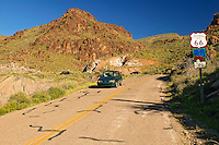 Route 66 in the Black Mountains between Oatman and Kingman Arizona