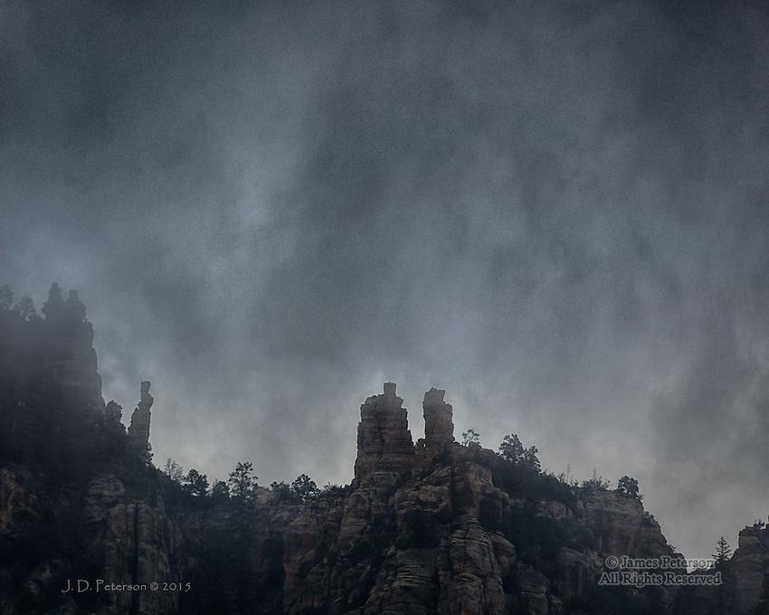 Descent - Winter Storm above Sedona, Arizona