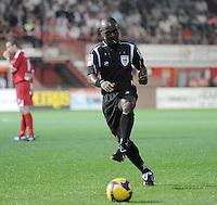 KV Kortrijk - K St-Truiden VV.voetballende Jerome Efong Nzolo.foto VDB / BART VANDENBROUCKE