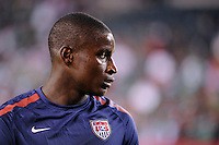 United States goalkeeper Bill Hamid (12). The men's national teams of the United States (USA) and Mexico (MEX) played to a 1-1 tie during an international friendly at Lincoln Financial Field in Philadelphia, PA, on August 10, 2011.