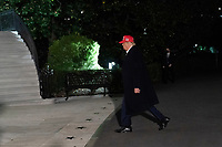 United States President Donald J. Trump returns to the White House in Washington, DC after attending a political event in Des Moines, Iowa on Wednesday, October 15, 2020.<br /> Credit: Chris Kleponis / Pool via CNP /MdeiaPunch