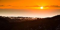 Sunrise over Farewell Spit near Collingwood, Nelson Region, South Island, New Zealand