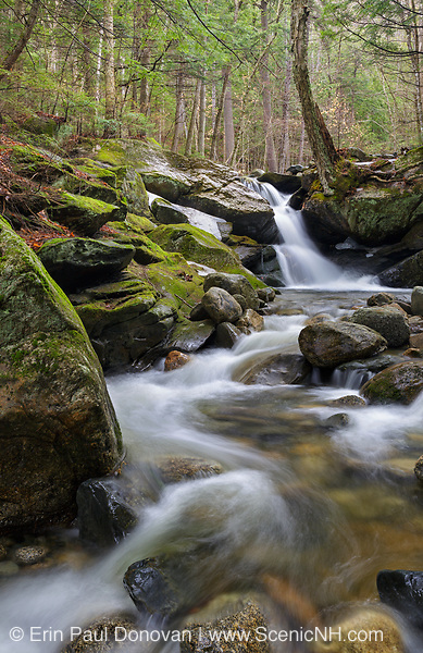 Black Brook in Easton, New Hampshire USA during the spring months. This is possibly Black Brook Falls.