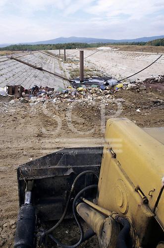 Bratislava, Slovakia. Landfill of toxic waste at the Istrochem works.