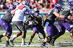 TCU Horned Frogs running back Kyle Hicks (21) in action during the game between the Texas Tech Red Raiders and the TCU Horned Frogs at the Amon G. Carter Stadium in Fort Worth, Texas. TCU defeats Texas Tech 82 to 27.