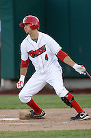 August 3, 2009:  Michael Wing of the Orem Owlz, Rookie Class-A affiliate of the Los Angeles Angels of Anaheim, during a game at the Orem Owlz Ballpark in Orem, UT. Photo by: Matthew Sauk/Four Seam Images