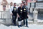 Sergio Fernandez, Juan Pozuelo and Julius during the presentation of the new season of Canal Cocina at Spring FesTVal 2017 in Burgos, Spain. March 30, 2017. (ALTERPHOTOS/BorjaB.Hojas)