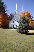 The village of Marlow during the autumn months. Located in the Marlow, New Hampshire, USA .