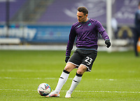 20th April 2021; Liberty Stadium, Swansea, Glamorgan, Wales; English Football League Championship Football, Swansea City versus Queens Park Rangers; Connor Roberts of Swansea City during the warm up