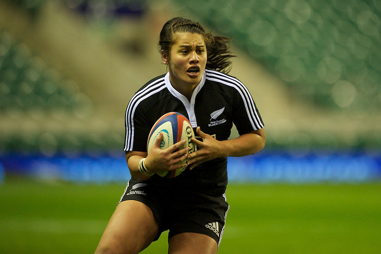 Shakira Baker of the Black Ferns during the test match between England Women and the Black Ferns at Twickenham on Saturday 01 December 2012 (Photo by Rob Munro)