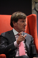 """Montreal (Qc) CANADA - June 4 2013 - Stephen R. Bronfman, Executive Chairman - Claridge Inc speak at the Canadian Club  PANEL """"Leadership challenges in family businesses"""" featuring<br /> Andrew Molson, Vice-Chairman of the Board - Molson Coors Brewing Company<br /> Chairman - RES PUBLICA Consulting Group (L),  Alain <br /> Lemaire<br /> Executive Chairman of the Board - Cascades Inc.  (M) and Stephen R. Bronfman, Executive Chairman - Claridge Inc (R)<br /> <br /> PHOTO :  Agence Quebec Presse"""