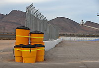 Nov. 1, 2008; Las Vegas, NV, USA: Detail view of safety improvements to the sand trap and catch net at the end of the race track during qualifying for the Las Vegas Nationals at The Strip in Las Vegas. Mandatory Credit: Mark J. Rebilas-