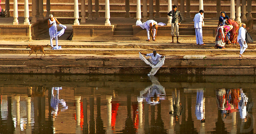 Pushkar in Rajasthan is one of India's most holiest towns, Hindus bathing in the early morning