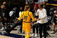 BERKELEY, CA - DECEMBER 13: Head coach Tara VanDerveer of the Stanford Cardinal instructs her team during a game between University of California-Berkeley and Stanford Women's Basketball at Haas Pavilion on December 13, 2020 in Berkeley, California.