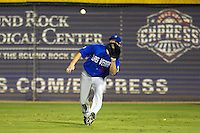 Las Vegas 51s outfielder Jack Cust #32 makes a running catch during the Pacific Coast League baseball game against the Round Rock Express on August 7th, 2012 at the Dell Diamond in Round Rock, Texas. The Express defeated the 51s 5-4. (Andrew Woolley/Four Seam Images).