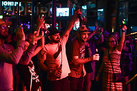 Attendees cheer, Saturday, July 17, 2021 at George's Majestic Lounge in Fayetteville. Check out nwaonline.com/210718Daily/ for today's photo gallery. <br /> (NWA Democrat-Gazette/Charlie Kaijo)