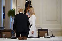 United States President Donald J. Trump, left, and First Daughter and Advisor to the President Ivanka Trump depart following the American Workforce Policy Advisory Board Meeting at the White House in Washington, DC on Friday, June 26, 2020. <br /> Credit: Chris Kleponis / Pool via CNP/AdMedia