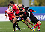 China plays Singapore during the17th Asian Games 2014 Rugby Womens Sevens tournament on October 01, 2014 at the Namdong Asiad Rugby Field in Incheon, South Korea. Photo by Alan Siu / Power Sport Images