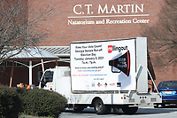ATLANTA, GA - JANUARY 5: Rolling Out moving billboard spotted at the C.T. Martin Natatorium And Recreation Center during the Georgia Senate runoff races on January 5, 2021 in Atlanta, Georgia. <br /> CAP/MP34<br /> ©MPI34/Capital Pictures