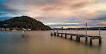 Dusk over Ettalong Beach on the Central Coast of NSW in Australia.