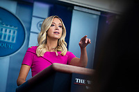 Kayleigh McEnany, White House press secretary, calls on a reporter during a news conference in the James S. Brady Press Briefing Room at the White House in Washington D.C., U.S. on Monday, June 22, 2020. <br /> Credit: Al Drago / Pool via CNP/AdMedia