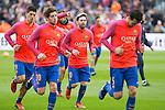 FC Barcelona's Luis Suarez, Sergi Roberto, Leo Messi, Sergio Busquets during spanish La Liga match between Futbol Club Barcelona and Real Madrid  at Camp Nou Stadium in Barcelona , Spain. Decembe r03, 2016. (ALTERPHOTOS/Rodrigo Jimenez)