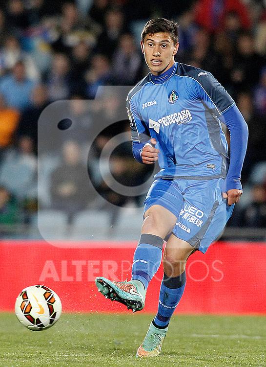 Getafe's Emiliano Daniel Velazquez during La Liga match.March 16,2015. (ALTERPHOTOS/Acero)
