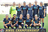 Orlando, FL - Saturday October 14, 2017: North Carolina Courage Starting XI during the NWSL Championship match between the North Carolina Courage and the Portland Thorns FC at Orlando City Stadium.