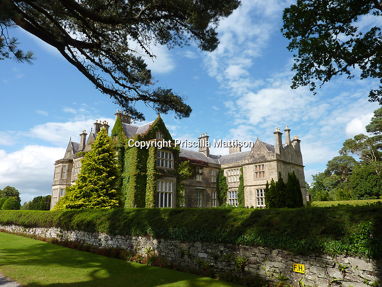 County Kerry, Republic of Ireland - July 19, 2010:  Stately Muckross House stands over its grounds in Killarney National Park.