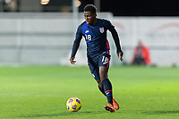 WIENER NEUSTADT, AUSTRIA - : Yunus Musah #18 of the United States moves with the ball during a game between  at Stadion Wiener Neustadt on ,  in Wiener Neustadt, Austria.