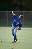 GCL Mets center fielder Raul Beracierta (95) during practice before a game against the GCL Cardinals on July 23, 2017 at Roger Dean Stadium Complex in Jupiter, Florida.  GCL Cardinals defeated the GCL Mets 5-3.  (Mike Janes/Four Seam Images)