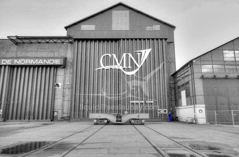 CMN, Constructions Mecaniques de Normandie, a privately owned shipyard located in Cherbourg, France, employs around 375 people.<br /> 150,000m² of facilities are available and the launching of ships up to 3,500 tons or up to 110 meters in length and 32 meters in width is possible by means of a synchrolift.