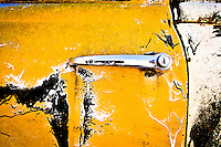 Old Chevy Truck door = yellow patina - New Mexico