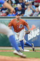Durham Bulls first baseman Vince Belnome (30) during a game against the Buffalo Bisons on July 10, 2014 at Coca-Cola Field in Buffalo, New  York.  Durham defeated Buffalo 3-2.  (Mike Janes/Four Seam Images)