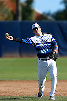 Mike Genovese #16 of the Seton Hall Pirates during a game against the Pepperdine Waves at Eddy D. Field Stadium on March 8, 2013 in Malibu, California. (Larry Goren/Four Seam Images)