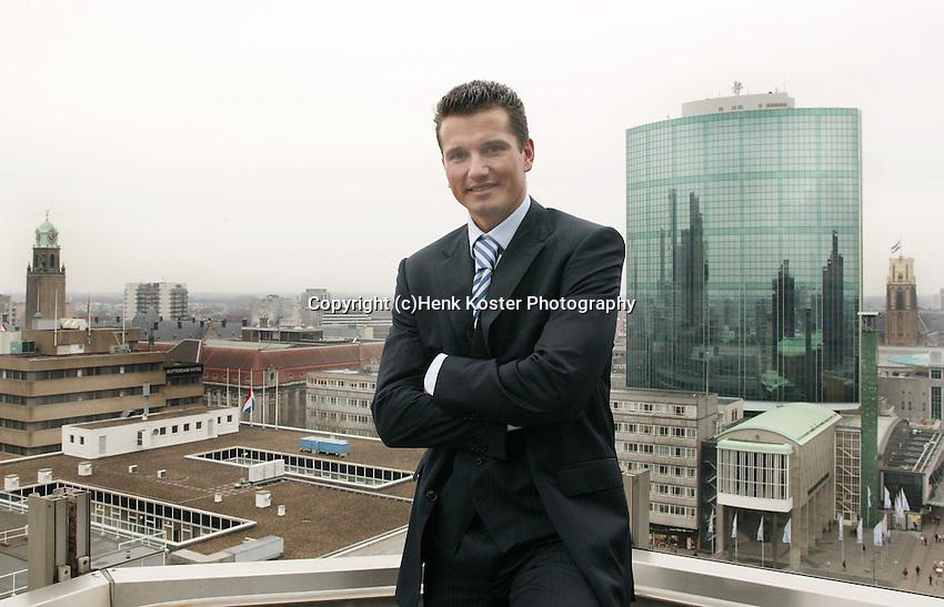 20050105, Rotterdam, ABNAMRO persconferentie , Richard Krajicek torent beven Rotterdam
