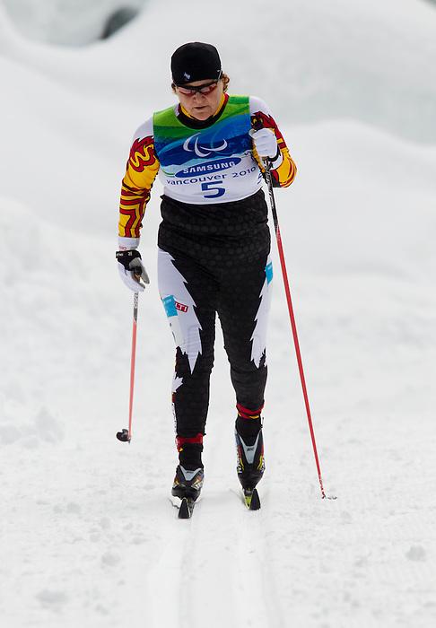 Mary Benson, Vancouver 2010 - Para Nordic Skiing // Ski paranordique.<br /> Mary Benson competes in Para Nordic Skiing // Mary Benson participe en ski paranordique. 15/03/2010.