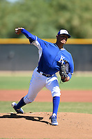 Kansas City Royals pitcher Julio Pinto (68) during an Instructional League game against the San Diego Padres on October 2, 2014 at Surprise Stadium Training Complex in Surprise, Arizona.  (Mike Janes/Four Seam Images)