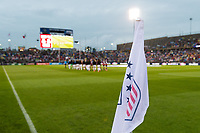 EAST HARTFORD, CT - JULY 1: Cornr flag before a game between Mexico and USWNT at Rentschler Field on July 1, 2021 in East Hartford, Connecticut.