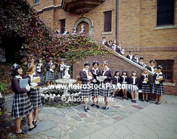 St. John Villa Academy. Teenager girls in school uniforms. 1959 - 165 New York
