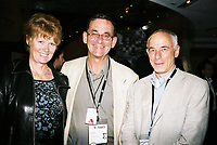 Toronto (ON) CANADA, April 21, 2007<br /> <br /> Jane Harris, Les Harris, Producer, Michael Harris<br /> at the HOT DOCS Film Festival 2007 <br />  Canadian Party held at the BATA Show Museum.<br /> <br />     photo by Pierre Roussel - Images Distribution