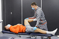 Viktor Gyokeres is undergoing a medical by Ritson Lloyd before Swansea City announcing him as their latest signing at The Fairwood Training Ground, Swansea, Wales, UK. Friday 02 October 2020