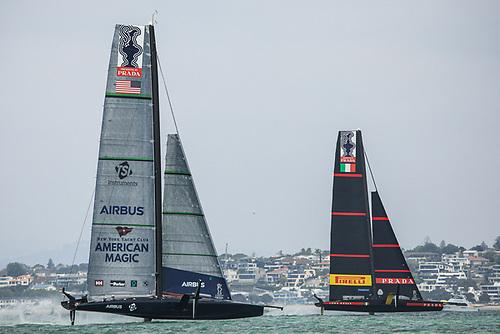 Luna Rossa Prada Pirelli beat New York Yacht Club American Magic COR36 / Studio Borlenghi