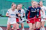 Mannheim, Germany, April 11: During the 1. Bundesliga women fieldhockey match between Mannheimer HC (blue) and Rot-Weiss Koeln (white) on April 11, 2021 at Am Neckarkanal in Mannheim, Germany. Final score 0-1 (HT 0-0). (Copyright Dirk Markgraf / www.265-images.com) ***