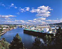 Ships getting repaired at Port of Portland in Portland, Oregon