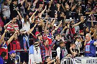 ORLANDO, FL - NOVEMBER 15: Fans of the USA during a game between Canada and USMNT at Exploria Stadium on November 15, 2019 in Orlando, Florida.