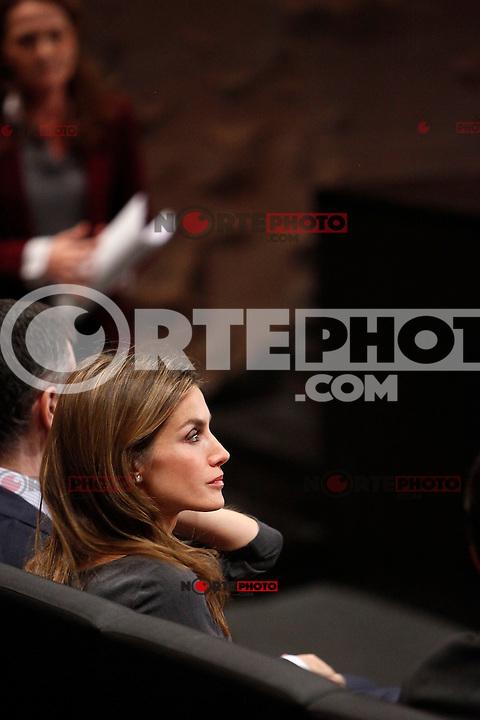 Princess Letizia of Spain attends 'Premios Magisterio 2012' at Caixa Forum in Madrid, Spain. November 29, 2012. (ALTERPHOTOS/Caro Marin) /NortePhoto