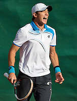 2013-08-13, Netherlands, Raalte,  TV Ramele, Tennis, NRTK 2013, National Ranking Tennis Champ,  Robert Constantinovici<br /> <br /> Photo: Henk Koster