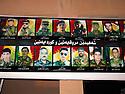 Iraq 2015 <br /> Poster in Duhok with photos of peshmerga killed when fighting Daesh  <br /> Irak 2015 <br /> Dans Dohok, affiche avec les portraits de peshmerga tués sur le front.